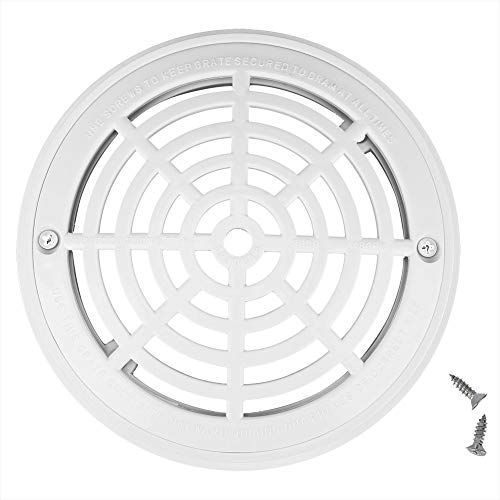 2Pcs Swimming Pool Drain Cover, Anti-Vortex Main Drain Suction Cover Plate for In-Ground Swimming Pools,Anti-Corrosion Filtration,SP-1030 with Screw ABS Floor Drain Cover Anti Vortex Main Drain