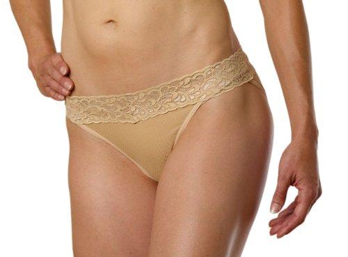 ExOfficio Women's Give-N-Go Lacy Lu Low Rise Bikini,Nude,Medium