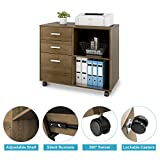 DEVAISE 3-Drawer Wood File Cabinet, Mobile