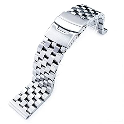 20mm SUPER Engineer Type II Solid Stainless Steel Straight End Watch Band-Push Button from Taikonaut
