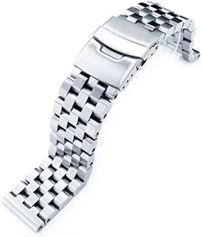 22mm SUPER Engineer Type II 316L Stainless Steel Straight End Watch Bracelet