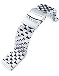 20mm SUPER Engineer Type II Solid Stainless Steel Straight End Watch Band-Push Button
