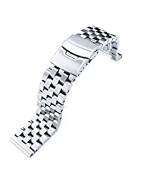 20mm SUPER Engineer II Solid Stainless Steel Straight End Watch Bracelet