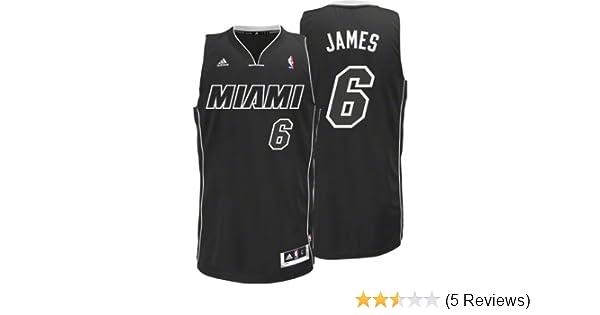 watch 7d57d b99d0 Amazon.com : NBA Men's Miami Heat LeBron James Black-Black ...
