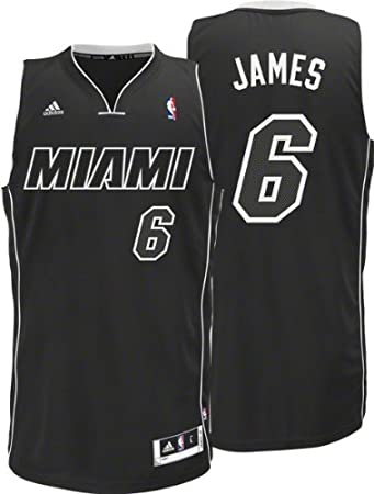 watch e621b 78d5d Amazon.com : NBA Men's Miami Heat LeBron James Black-Black ...