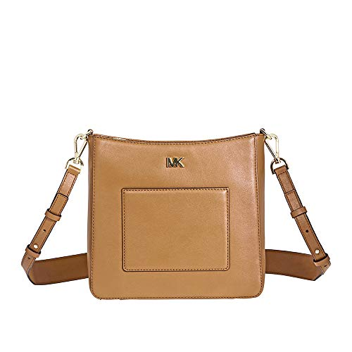 Michael Kors Gloria Leather Messenger Bag- Acorn