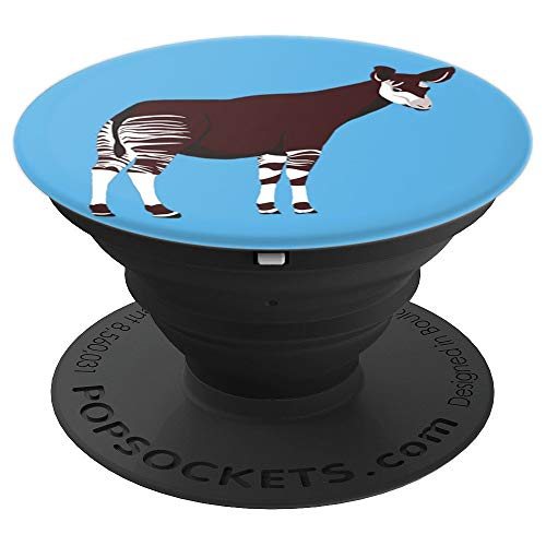 Okapi Love Okapis Design - PopSockets Grip and Stand for Phones and Tablets