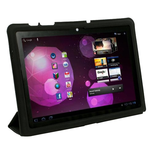 Stand Smart Slim Leather Case Cover For Samsung Galaxy Tab 10.1 GT-P7510 Black