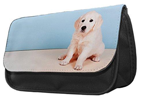 Federmäppchen/Kosmetiktasche mit Design Goldener Labrador-Welpe 077 WCw0L3JHa