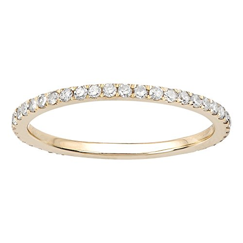 10k Yellow Gold Pave Eternity Diamond Wedding Band (1/2 cttw, I-J Color, I2-I3 Clarity) by Instagems