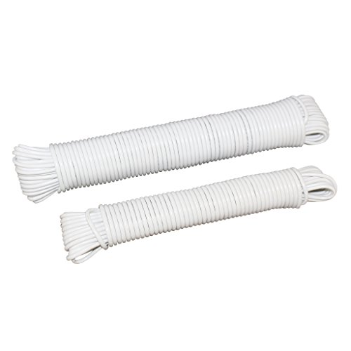 Clothesline (5/32 inch) - SGT KNOTS - Plastic Coated Clothes Line - Fiber Reinforced Line - All Purpose Laundry Line Dryer Rope for Outdoor, Outside, Indoor, Crafting, Art Projects (100 feet)