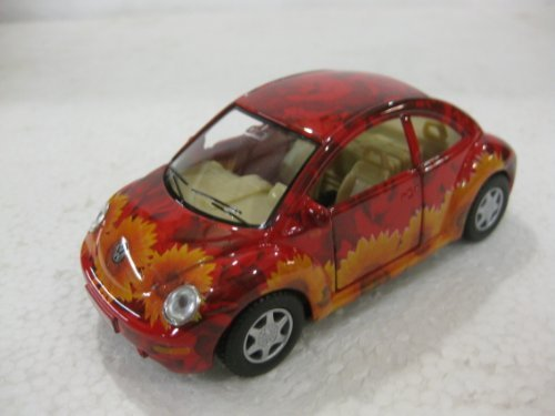 Volkswagon New Beetle In Flower Print Diecast 1:32 Scale By Kinsmart from diecast 1 32 scale