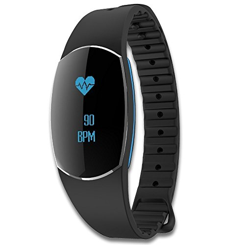 Activity Tracker with Heart Rate Monitor, Waterproof Fitness Watch with blood pressure Monitor (Swimming Heart Rate Monitors)