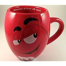 M&Ms Big Face Ceramic Mugs (Red) m&m m & m