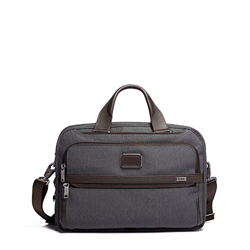 TUMI - Alpha 3 Triple Compartment Brief Briefcase - 15 Inch Computer Bag for Men and Women - Anthracite