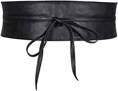 PU Leather Ladies Belts for Dresses Wide Waist Belts for Women Obi Cinch Belts