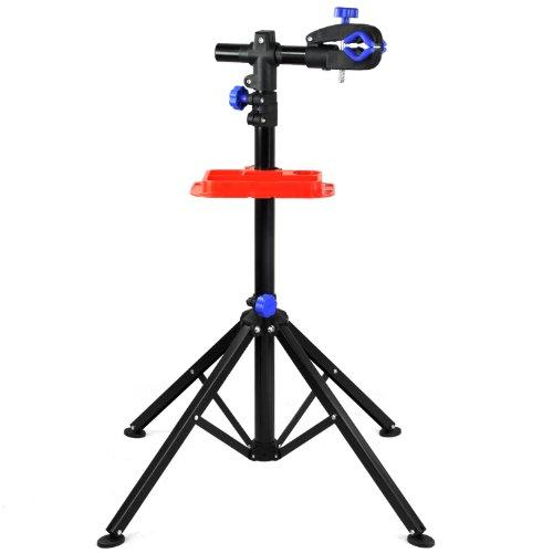 Yahee Fahrradmontageständer Fahrradständer Reparaturständer Montageständer Werkzeugständer verstellbar,Faltbar, Vierbeinig,drehbar 360°, Unterstützt 50 kg