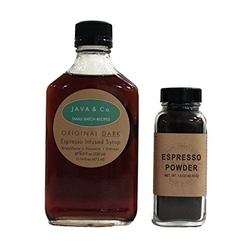 Espresso Powder & Espresso infused Syrup Baking & Cooking Duo by JAVA & Co.