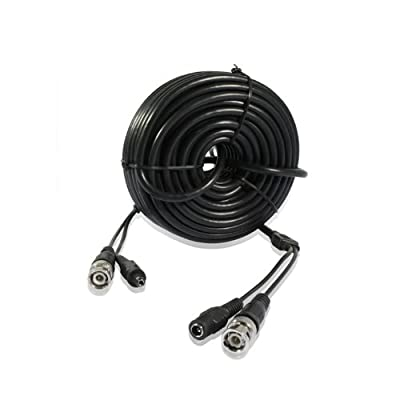 Zmodo W-VP1015 AWG24 Video + Power CCTV Cable (15 Meters, 49 Feet)