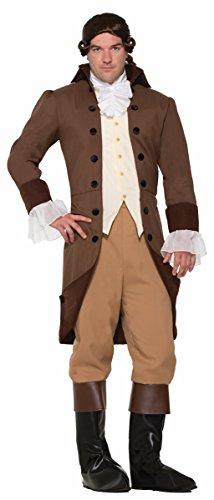 Mens Colonial Costume (Forum Men's Colonial Gentleman Patriotic Costume, Brown, STD)