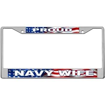Amazon Com Proud Marine Mom Custom License Plate Metal