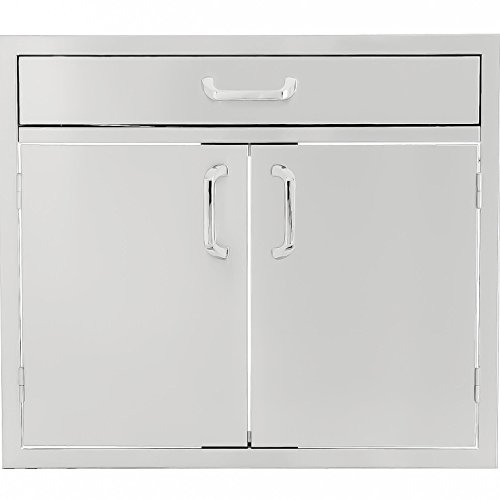 Series 30-inch Stainless Steel Double Door & Single Drawer Combo ()