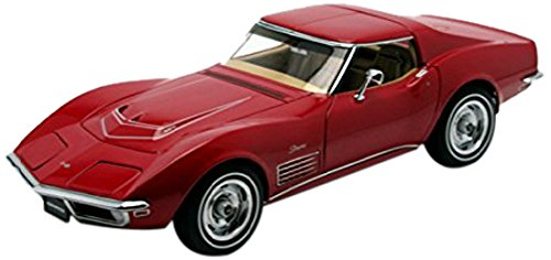 Monza Corvette (1970 Chevrolet Corvette Monza Red 1/18 Limited Edition 1 of 6000 Produced Worldwide by Autoart 71172)