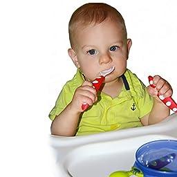 Toddler Training Learning Spoons Forks Travel Case Included 3 Set Utensil Unisex