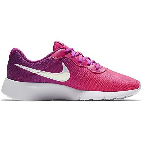 Nike Girl's Tanjun Print Shoe Hyper Violet/Pink Blast/Deadly Pink Size 5.5 M US
