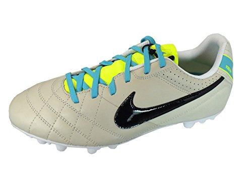Nike - Bota jr tiempo natural iv ltr ag, talla 38,5, color bones/azul