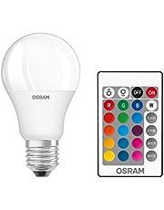 Osram LED Star+ Classic A RGBW lampa, i kolvform med E27-sockel, dimbarhet och färgkontroll med fjärrkontroll, ersätter 60 watt, varm vit – 2700 Kelvin, 1-pack