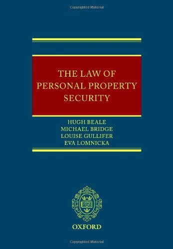 The Law of Personal Property Security by Oxford University Press