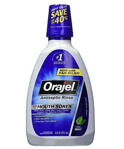 - Orajel Antiseptic Mouth Sore Rinse-16.00oz (Quantity of 6) by Orajel
