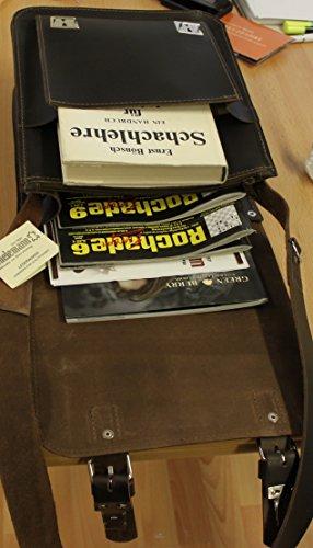 Caccia tasche th1418–�?della RG Tabacco signore Tracolla della borsa di sella in pelle Thielemann