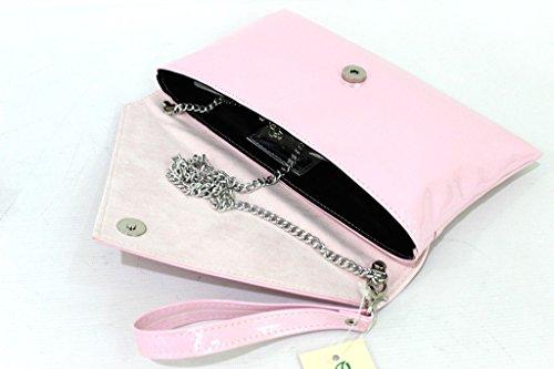 Borsetta donna Annaluna l.vernice pochette 752v rosa confetto made in italy