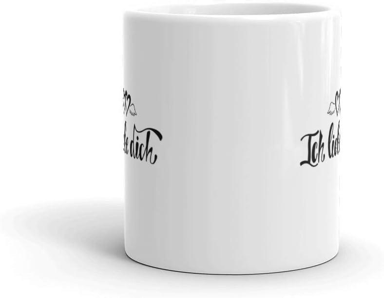 Amazon.com: Taza de cerámica con texto en alemán