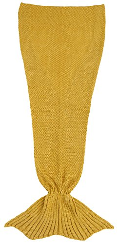 burklett-four-seasons-crochet-mermaid-tail-sleeping-blanketdeep-luminous-yellow