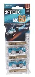 Pk/3 x 6: Tdk Micro Cassette (D-MC60U3)