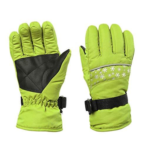 Qewmsg Children Waterproof Snowboard Snowmobile Motorcycle Riding Winter Ski Gloves