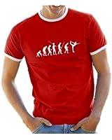 Coole-Fun-T-Shirts T-Shirt YOGA Evolution RINGER