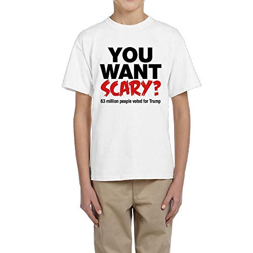 TangChuan Youth Boys Girls You Want Scary 63 Million People Voted for Trump Halloween Funny T-Shirt -