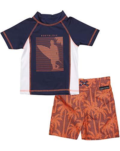 (Body Glove Little Boys 2-Piece Rash Guard Swimsuit Set, Navy Surf, Size 4' )