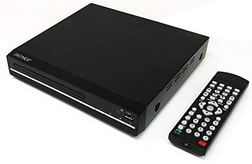 Denver DVH-7787 UK Version – Compact DVD Player, Multi Region/All Region, Full HD 1080p Upscaling, HDMI, Scart…
