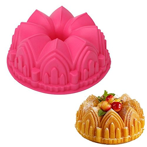 Silicone Collection Cathedral Bundt Pan Chiffon Savarin Cake Mold Decoration Baking Tool Home Kitchen Supplies