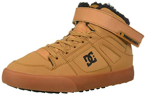 DC Boys' Pure HIGH-TOP WNT EV Skate Shoe, Wheat, 6.5 M US Big Kid ()