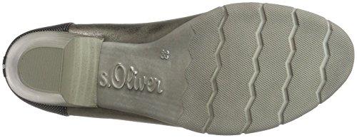 s.Oliver 22405, Zapatos de Tacón para Mujer Plateado (Pewter Metal.)