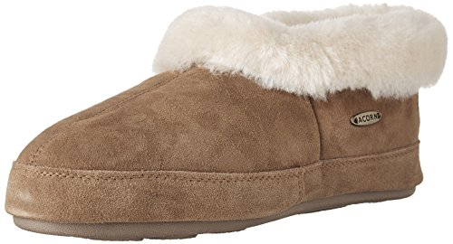 Sheepskin Slippers Collar Women's Walnut Acorn Ewe Oh TpWCn55q