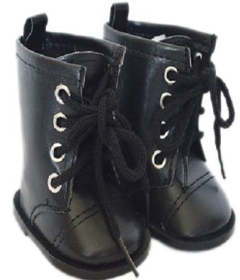 Doll Boots (BLACK TIE BOOTS FOR AMERICAN GIRL DOLLS)