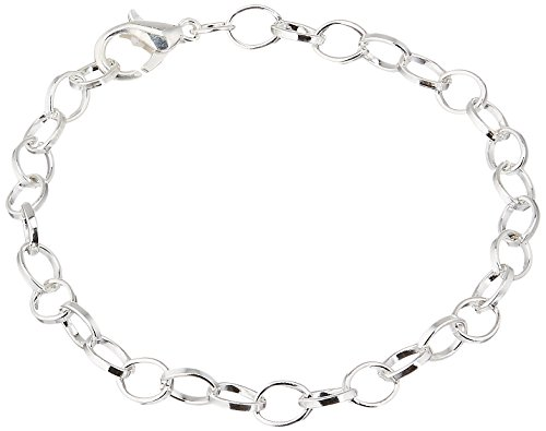 Housweety Silver Plated Chain Bracelets