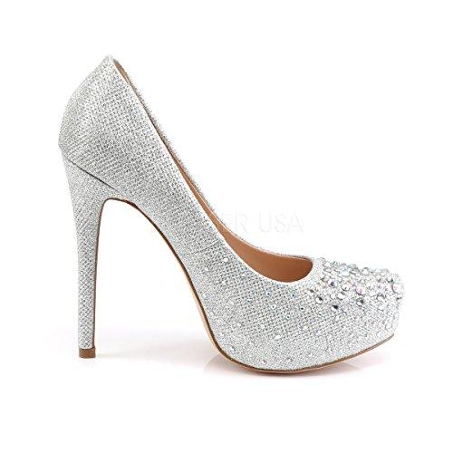 Higher Heels Argent compensées chaussures Argent femme qBxqPrH
